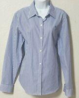 Womens Polo Ralph Lauren Blake White & Blue Striped Button Down Shirt