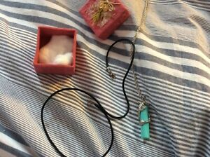 unusual dragon and turquoise necklace