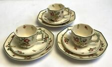 More details for antique royal doulton old leeds sprays d3548 rn 597783 cups saucers trios