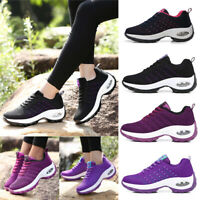 Casual Women's Girls Flat Shoes Comfort Lace Up Sneakers Athletic Joggers Tennis
