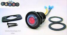 Double Sealed Waterproof Red LED Rocker 12V Toggle Switch SPST Marine Round IP66