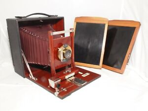 5X7 Korona II Field Camera by Gundlach Optical Co. Rochester, NY. Two Holders.
