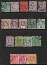 STRAITS SETTLEMENTS 1904-11 EDVII Mint & Used - Wmk. Multi Crown CA  (Sep 434)