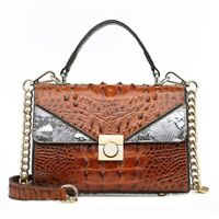 Women's  Leather Crossbody Crocodile Pattern Satchel Shoulder Bag Purse 7 color