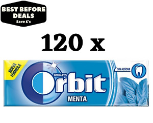 Orbit (Extra) Peppermint Chewing Gum - 120 Packs For £14.99 - BBE: 03/04/2021