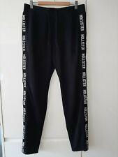 Hollister Para Hombre Negro Sudor Pantalones Sz Medio Chándal Pantalones Informales poste libre