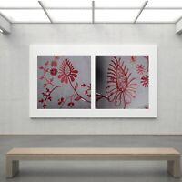 2 posters tableaux napperon couture broderie fleur art nouveau France O7099
