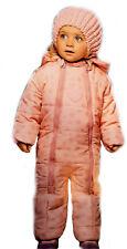 Größe 74/80 Baby Winteroverall Mädchen Schneeoverall Schneeanzug Overall Kapuze