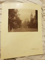 Collins Street OR River Yarra & Princes Bridge - 1929 Magazine Print