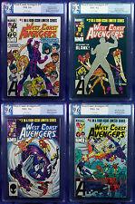 WESTCOAST AVENGERS #1-4 (1984) PGX 9.2-9.6 NM- - NM+ Near Mint LTD Series!!!