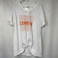 NEW Zoozatz Womens T-Shirt Tunic V-Neck COWBOYS sz XL