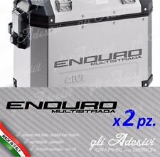 2 Adesivi per valigie GIVI Trekker Ducati Multistrada ENDURO alluminio