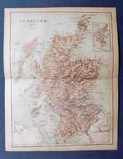 Original 1859 Color Map  of SCOTLAND, By W. Hughes of London, James S. Virtue