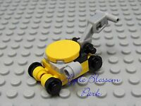 NEW Lego City Yellow Black Gray LAWN MOWER - Minifig/Minifigure Garden Yard Tool