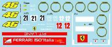 F1 DECALS MUSEUM COLLECTION D625 1/43 FOR FERRARI F150 ITALIA / 312T2 & 312T4