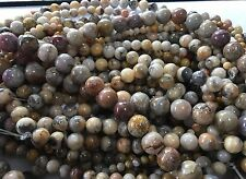 "THREE (3) 16"" Strand CRAZY LACE AGATE 6mm GEMSTONE BEADS Beautiful Colors"