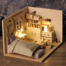 Wooden DIY Dollhouse Kit 1:24 Scale Bedroom for Valentine Day/ Birthday Gift