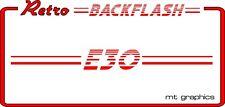 Retro Car Backflash Window Sticker - BMW 3 SERIES E30 - Back Flash Decal