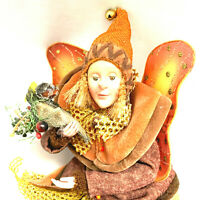 Vintage Autumn Fairy Pixie Forest Fall Thanksgiving Doll