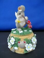 Charming Tails Figurine Collectible Music Box Fitz & Floyd 93/200 - No Box