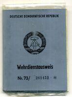 DDR NVA Wehrdienstausweis,Wehrpaß mit Erkennungsmarke 1974 Wurzen
