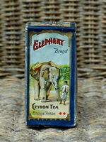 alte Teepackung Elephant Brand Ceylon Tea Original Inhalt um 1910