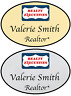 1 GOLD & 1 SILVER REALTY EXECUTIVES PERSONALIZED NAME BADGES SAFETY PIN FASTENER