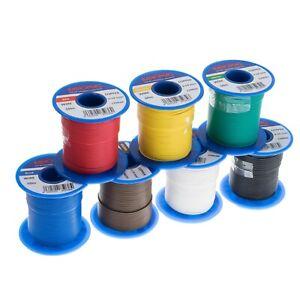 Litzen-Sortiment Schaltlitzen 1x0,14 mm² Kupfer PVC-isoliert 7 Farben 50m Spulen