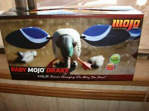 MOJO OUTDOORS BABY MOJO MALLARD DRAKE MOTORIZED SPINNING MAGNETIC WING DECOY