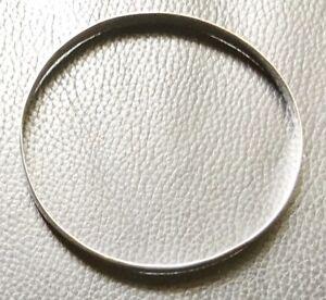 Medium  size 5.5 Genuine 925 sterling silver Gypsy, Golf  style solid  Bangle