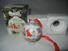 Hutschenreuther Weihnachtskugel Porzellan 1991 (meine Art-Nr. 1991-5)