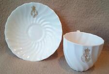Vintage emblèmes Coalport Royal Navy Britannique Porcelaine Tasse à Thé & Soucoupe