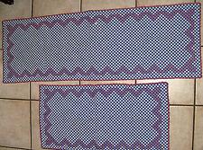 2 sehr schöne Tischläufer Tischdecken blau weiß rot 82 x 42 cm  +  128 x 43 cm