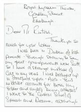 Susan Macready TV Film  and Theatre Actress Hand written and signed Letter