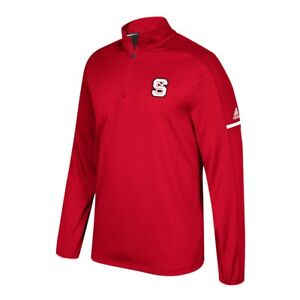 NC State Wolfpack NCAA Adidas Men's 2017 Sideline Red Fleece