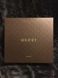 """Gucci Large Shoebox, Logo Embossed, Empty, Minor Blemishes, 11.75""""x10.75""""x4.25"""""""