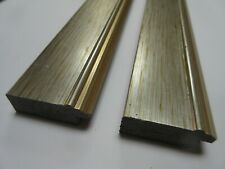 1.5m (2x77cm lengths) 47mm Flat 2-tone Silver Polcore Picture Frame Moulding