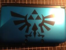 √ 1x BLACK THE LEGEND OF ZELDA HYRULE CREST DECAL FOR 3DS XL GAME CONSOLE √