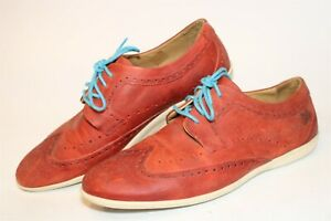 John Fluevog Mens Size 11 Leather Lace Up Brogue Wing Tip Oxford Sneaker Shoes