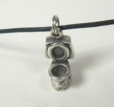 Toilet Charm Pendant .925 Sterling Silver USA Made Bathroom Plumber Gift Remodel