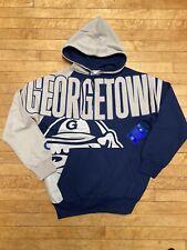 90's Starter Georgetown Hoyas Hoodie Sweatshirt Sz M Spellout Vintage
