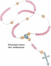 Rosary Making Kit Glass Bead Rosary Supplies Beads Jewelry Making Pink