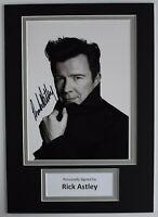 Rick Astley Signed Autograph A4 photo display Music Memorabilia AFTAL COA