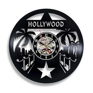 Hollywood Stars Red Capret - Hollywood Cinema Themed Vinyl Wall Clock