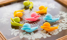 5pcs Funny Cute Candy Colors Snail Shape Silicone Tea Bag Holder Cup Mug
