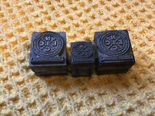 More details for 3 antique national inspection electricity letterpress lead printing blocks