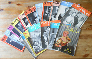 QUANTITY 19x PLAYS AND PLAYERS THEATRE MAGAZINE 1954 - 1957 VINTAGE