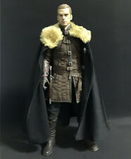 "1:6 Scale VTG Black Soldier CLoak Fur Cape  For 12"" Phicen HT Male Body Doll"