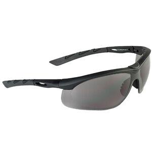 Swiss Eye Lancer Mens Airsoft Sunglasses Smoke Ballistic Lens Black Rubber Frame