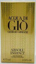 💝 Giorgio Armani Acqua di GIÒ ABSOLU INSTINCT EDP Spray 75ml OVP/NEU